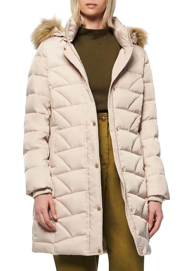 Marc New York Medina Faux Fur Trim Down Puffer Jacket