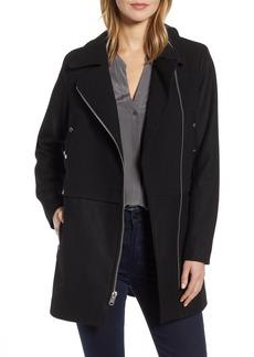 Marc New York Melton Asymmetrical Zip Coat