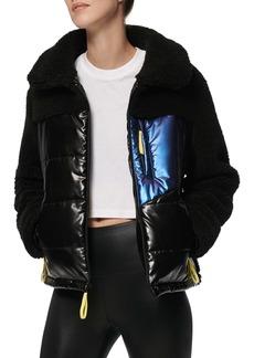 Marc New York Mixed Media Faux Shearling Jacket