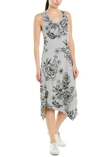 Marc New York Performance Andrew Marc Floral Handkerchief Midi Dress