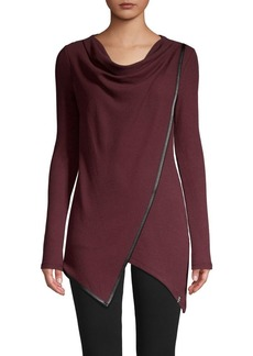 Marc New York Performance Asymmetric Draped-Front Tunic