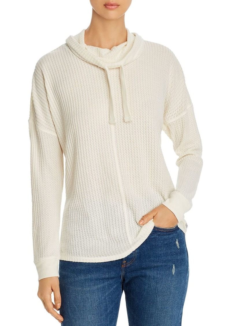 Marc New York Performance Brushed Waffle-Knit Top