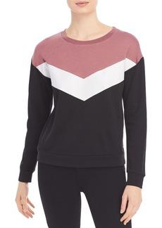 Marc New York Performance Color Block Chevron Sweatshirt