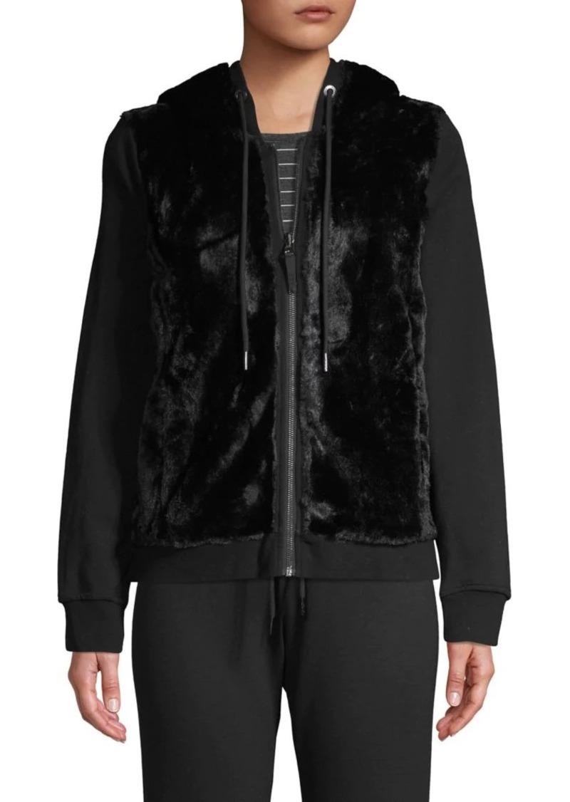 Marc New York Performance Faux-Fur Zip Hoodie