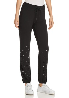 Marc New York Performance Faux-Pearl Embellished Sweatpants