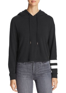 Marc New York Performance Graphic-Stripe Cropped Hoodie