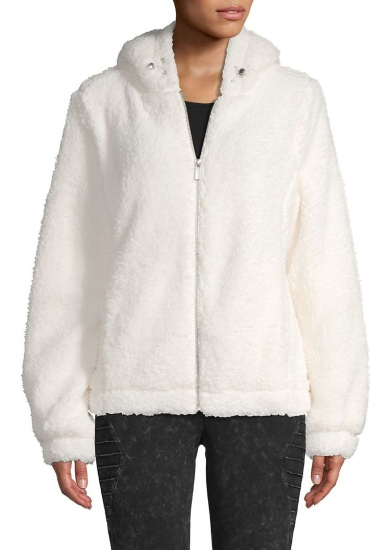 Marc New York Performance Hooded Faux-Fur Teddy Jacket