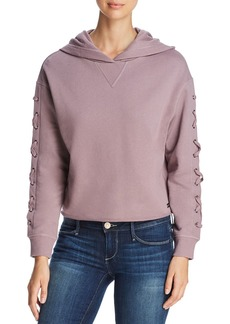 Marc New York Performance Lace-Up Cropped Hoodie