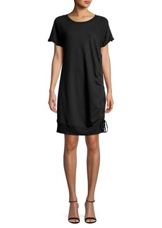 Marc New York Performance Lace-Up Shirt Dress