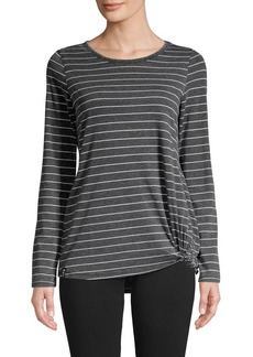 Marc New York Performance Long-Sleeve Striped Knit Tee