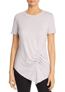Marc New York Performance Ruched Asymmetric Tee