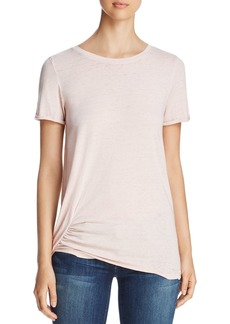 Marc New York Performance Short-Sleeve Ruched Tee