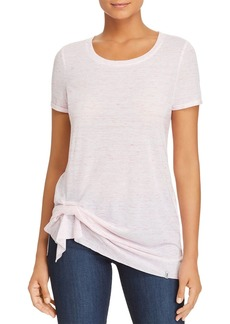 Marc New York Performance Space-Dyed Cinched-Hem Tee
