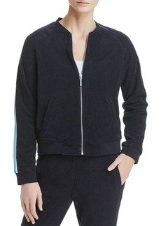 Marc New York Performance Stripe-Trimmed Terry Bomber Jacket
