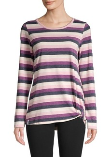 Marc New York Performance Striped Cotton-Blend Top