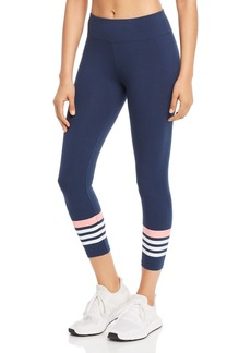 Marc New York Performance Striped Cropped Leggings