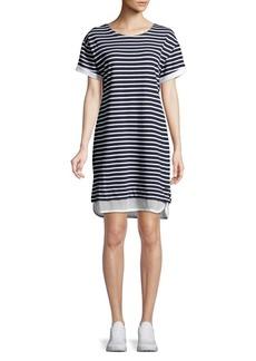 Marc New York Performance Striped Short Sleeve T-Shirt Dress