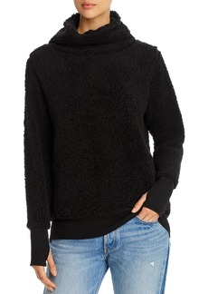 Marc New York Performance Teddy Fleece Funnel-Neck Top