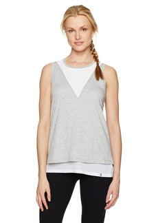 Marc New York Performance Women's 2-Fer Tank with Mesh  M