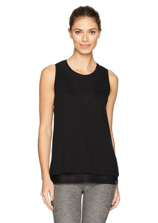 Marc New York Performance Women's 2-Fer Tank W/Mesh  XL