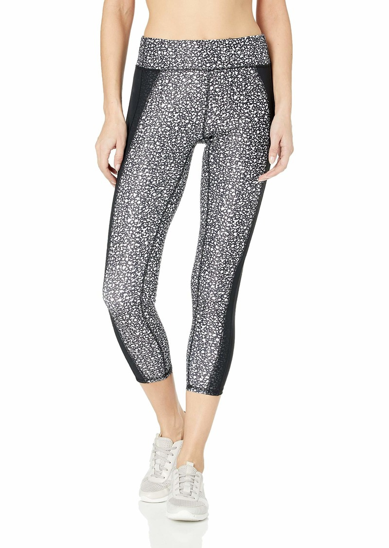 Marc New York Performance Women's 7/8s Compression Printed Legging with Mesh