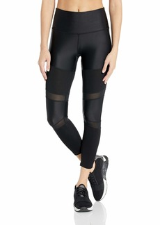 Marc New York Performance Women's Active Ribbed 7/8th Length Mixed Media Legging