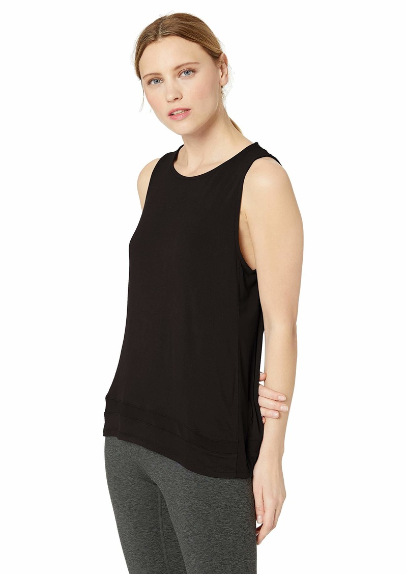 Marc New York Performance Women's Boxy Tank Top with Mesh Panels