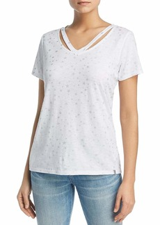 Marc New York Performance Women's Cold-Clavicle Vneck TEE  XL