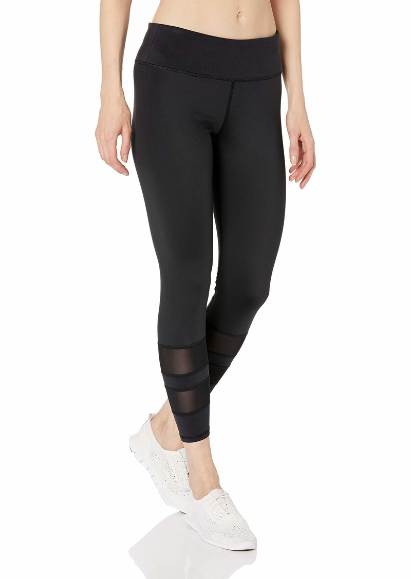 Marc New York Performance Women's Compression 7/8th Length Legging with Varsity mesh Stripe