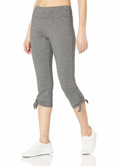 Marc New York Performance Women's Cotton Spandex Crop Legging with Chunky Side tie