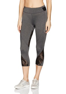 Marc New York Performance Women's Cropped Legging with Mesh Inserts  L