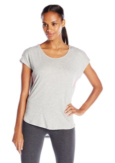 Marc New York Performance Women's Draped Back Tee with Piping
