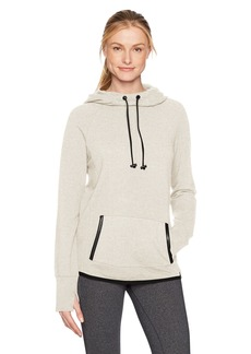 Marc New York Performance Women's Funnel Neck Hooded Sweatshirt With PU Leather Trim  XL
