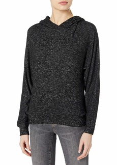 Marc New York Performance Women's Hachi Long Sleeve Boxy Dolman Hooded Pullover
