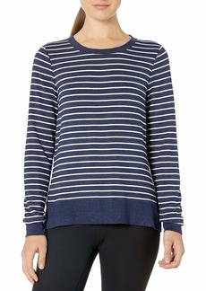 Marc New York Performance Women's High-Low Thick 'n Thin Stripe Pullover