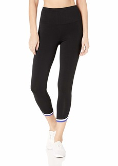 Calvin Klein Women's High Waisted 7/8s Lenth Legging with Contrast Binding