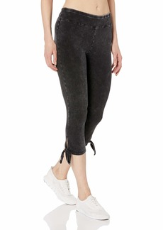 Marc New York Performance Women's Knit Denim Crop Legging with Chunky Side tie