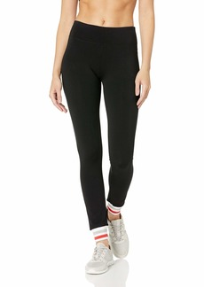 Marc New York Performance Women's Long Legging with Novelty Striped Rib Cuff