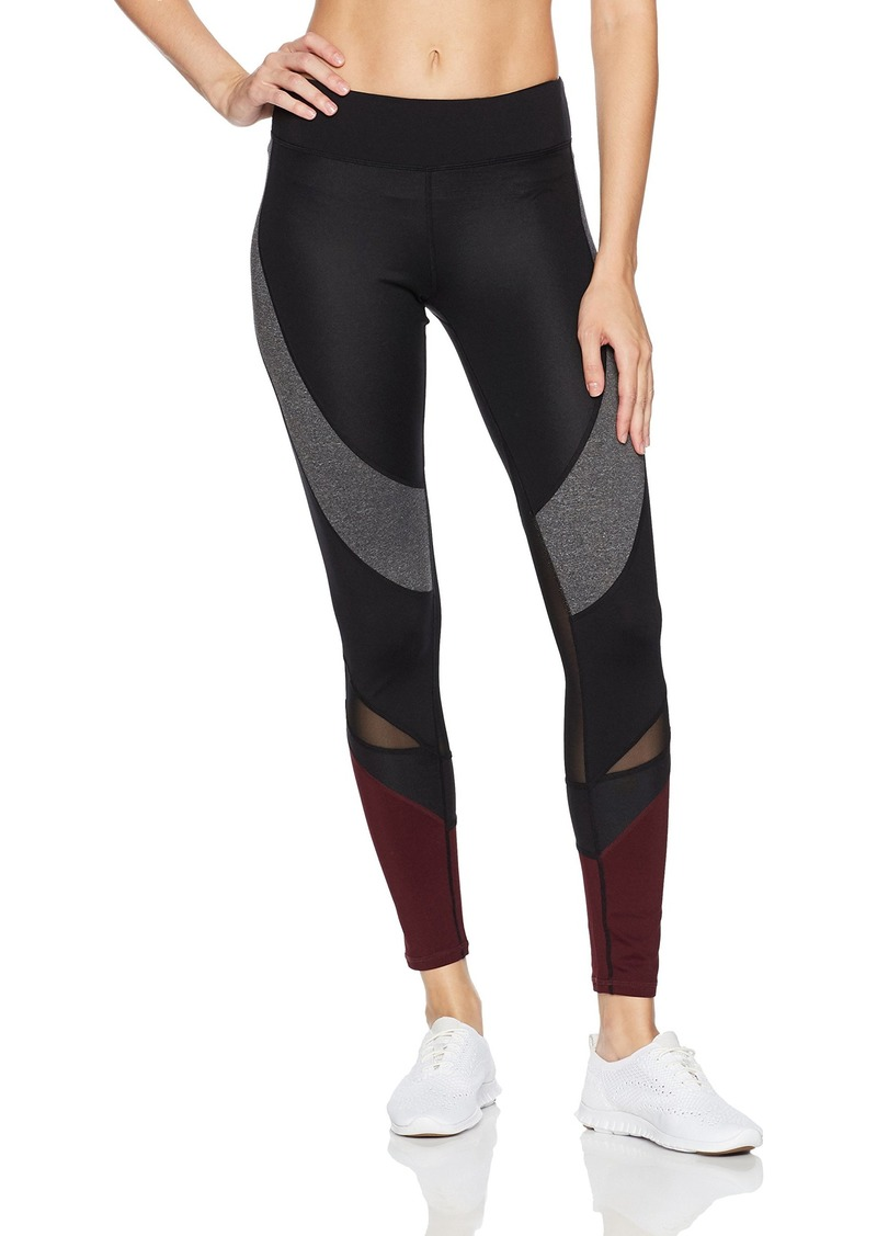 Marc New York Performance Women's Long Mixed Media Compression Legging with Mesh  S