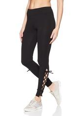 Calvin Klein Women's Long Open Lace Up Legging  S
