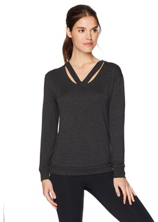 Marc New York Performance Women's Long Sleeve Cold Clavical Sweatshirt  L