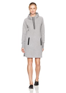 Marc New York Performance Women's Long Sleeve Funnel Neck Hooded Sweatshirt Dress  XL