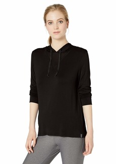 Marc New York Performance Women's Long Sleeve Hooded tee with mesh Triangle Inset