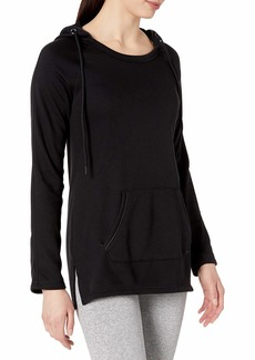 Marc New York Performance Women's Long Sleeve Hooded Tunic with Pu Piping