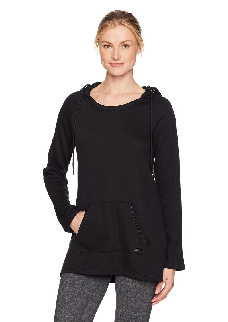 Marc New York Performance Women's Long Sleeve Hooded Tunic with Pu Piping  XL