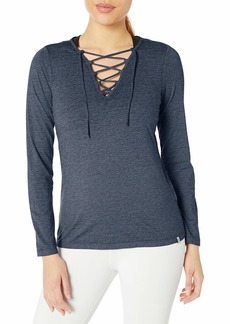 Marc New York Performance Women's Long Sleeve Lace-up Front Tee
