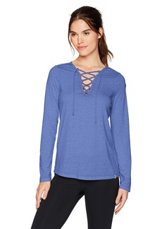 Marc New York Performance Women's Long Sleeve Lace-up Front Tee  L