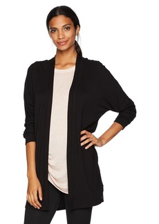 Marc New York Performance Women's Long Sleeve Open Cardigan with Raw Edges  M