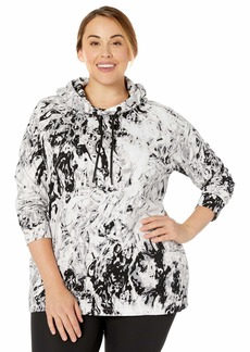 Calvin Klein Women's Long Sleeve Printed Hooded Pullover