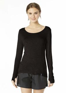Marc New York Performance Women's Long Sleeve tee Shirt with Keyhole Back